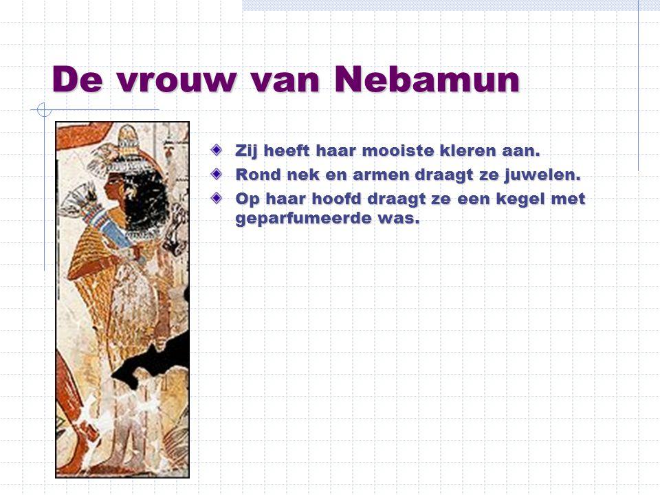 De vrouw van Nebamun Zij heeft haar mooiste kleren aan.
