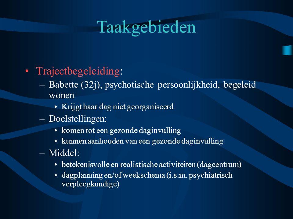 Taakgebieden Trajectbegeleiding: