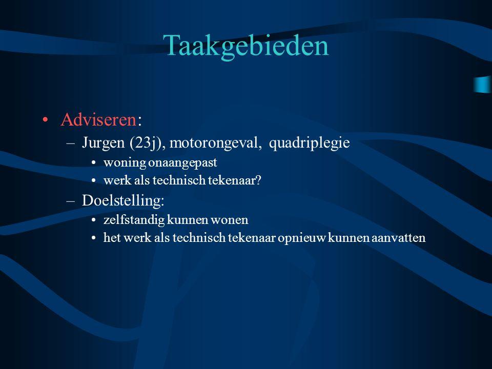 Taakgebieden Adviseren: Jurgen (23j), motorongeval, quadriplegie