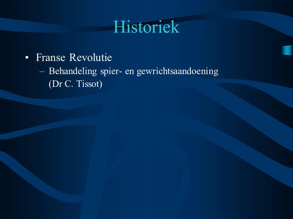 Historiek Franse Revolutie Behandeling spier- en gewrichtsaandoening
