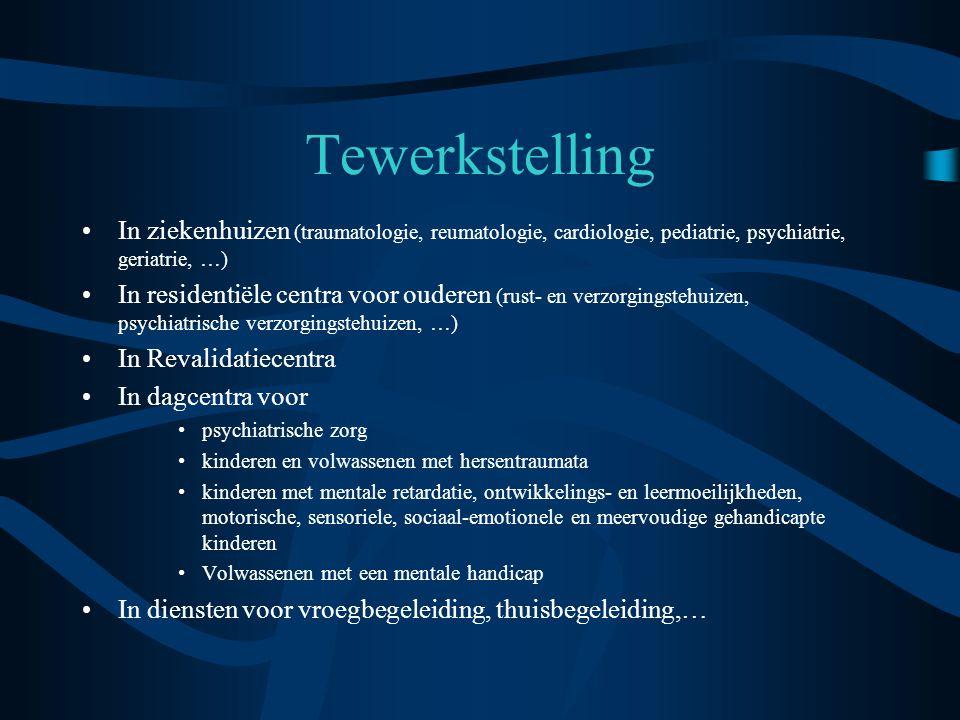 Tewerkstelling In ziekenhuizen (traumatologie, reumatologie, cardiologie, pediatrie, psychiatrie, geriatrie, …)