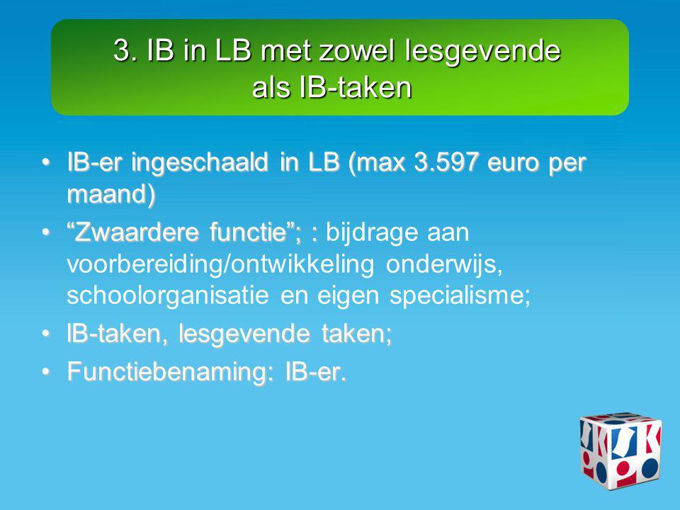 3. IB in LB met zowel lesgevende