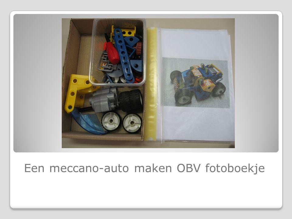 Een meccano-auto maken OBV fotoboekje