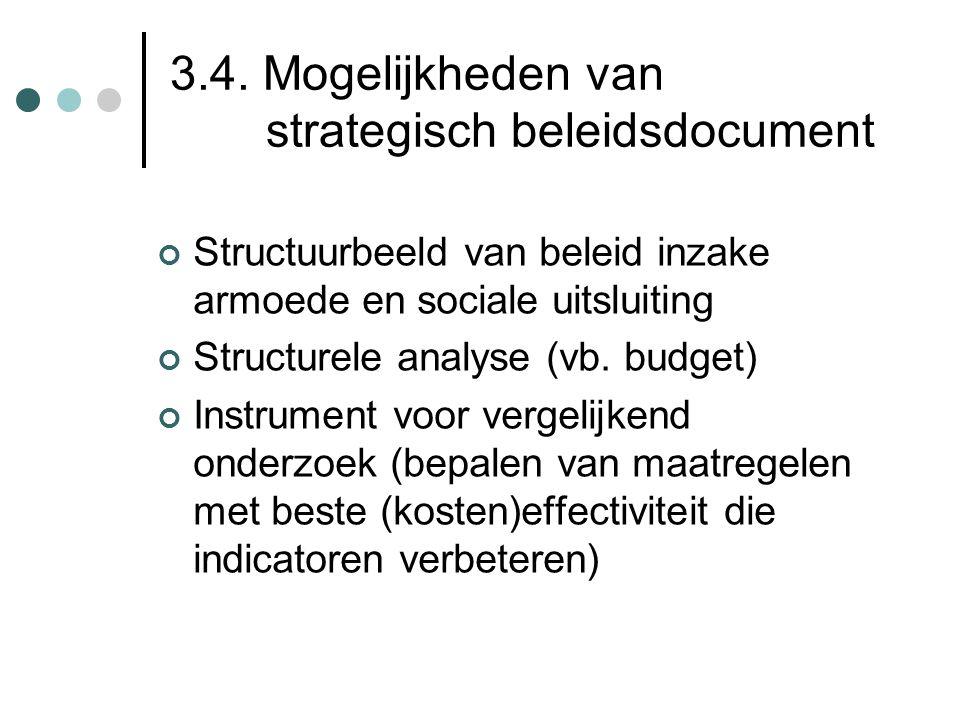 3.4. Mogelijkheden van strategisch beleidsdocument
