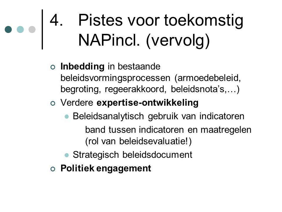 4. Pistes voor toekomstig NAPincl. (vervolg)