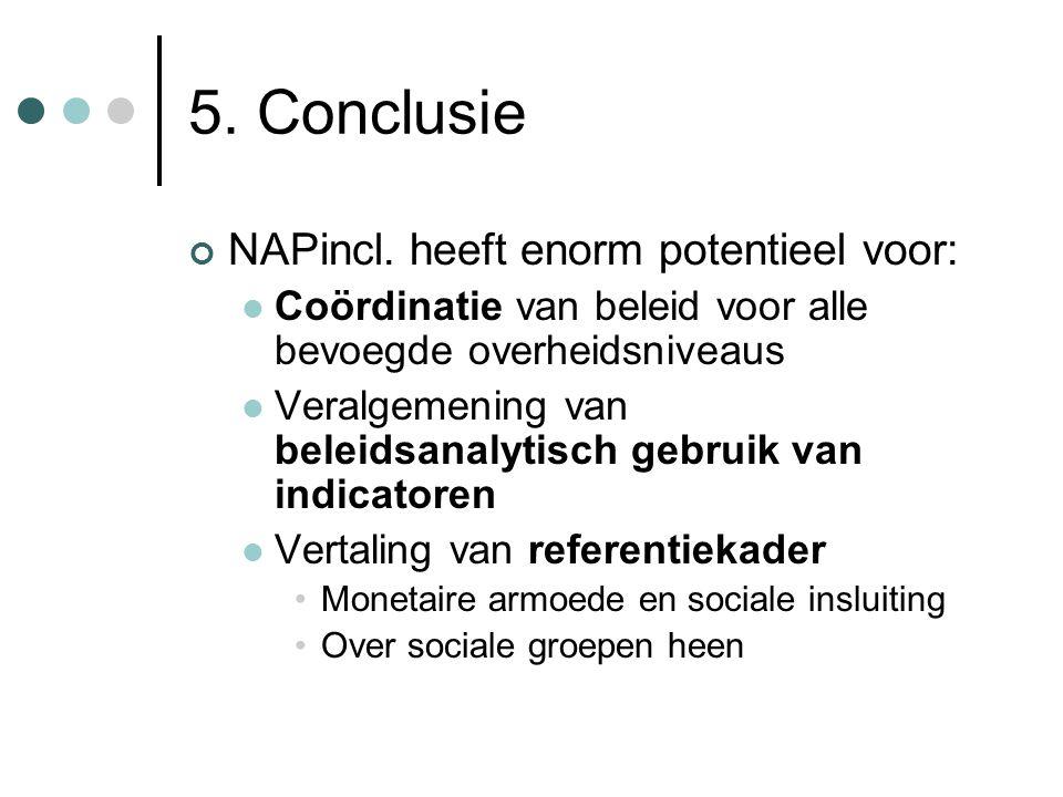5. Conclusie NAPincl. heeft enorm potentieel voor: