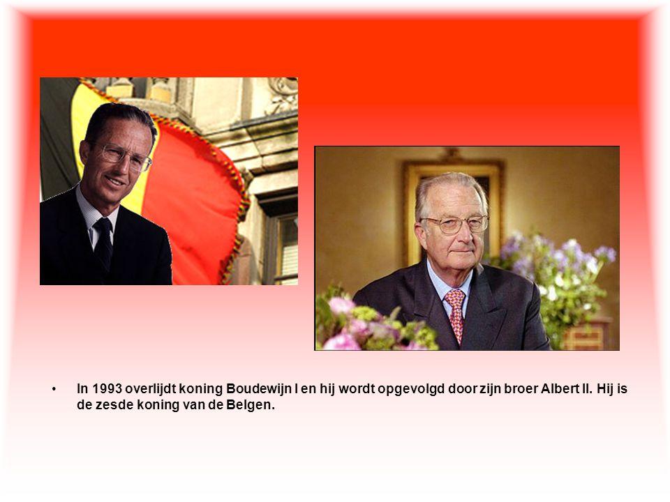 In 1993 overlijdt koning Boudewijn I en hij wordt opgevolgd door zijn broer Albert II.