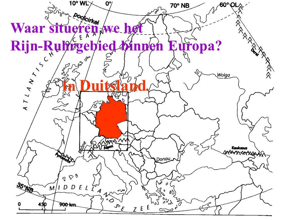 Waar situeren we het Rijn-Ruhrgebied binnen Europa In Duitsland.