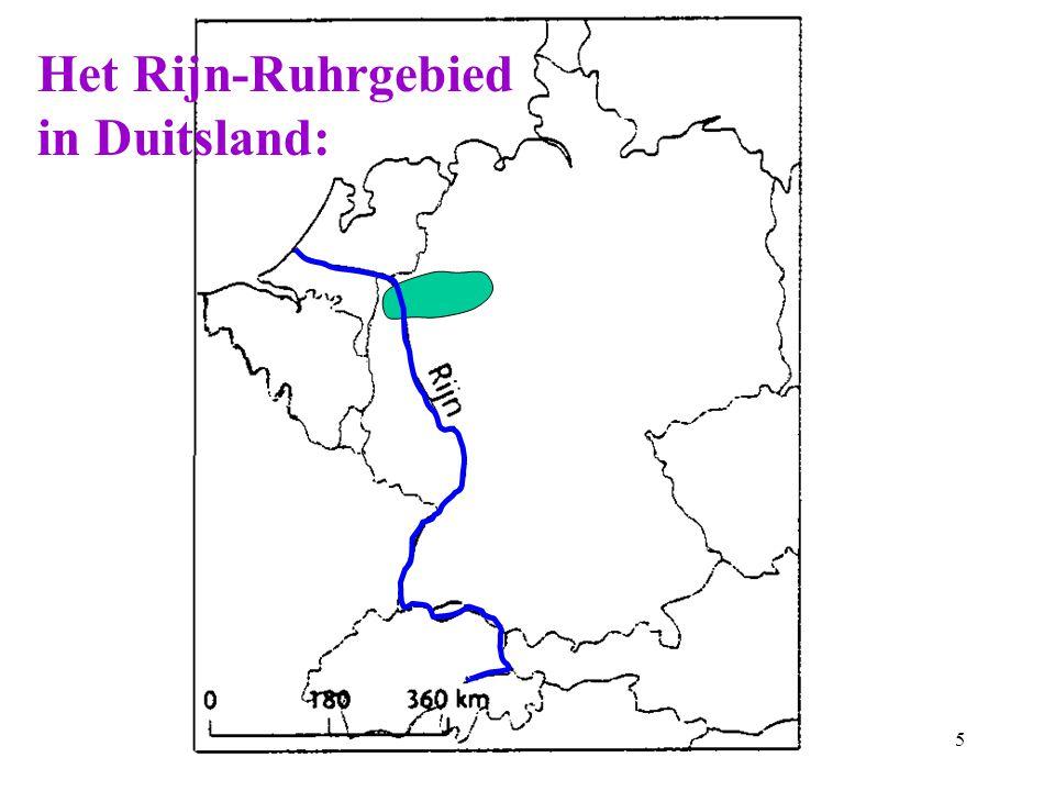 Het Rijn-Ruhrgebied in Duitsland: