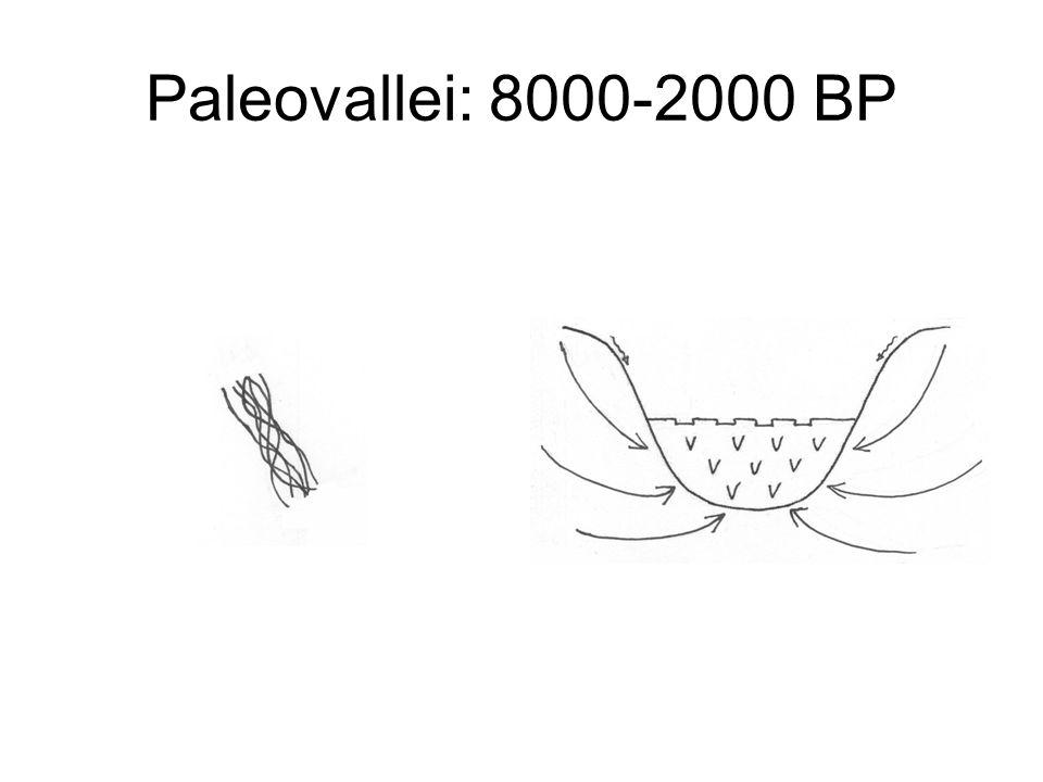 Paleovallei: 8000-2000 BP
