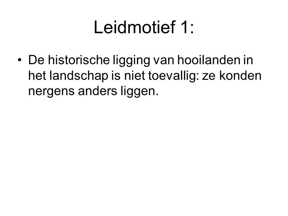Leidmotief 1: De historische ligging van hooilanden in het landschap is niet toevallig: ze konden nergens anders liggen.