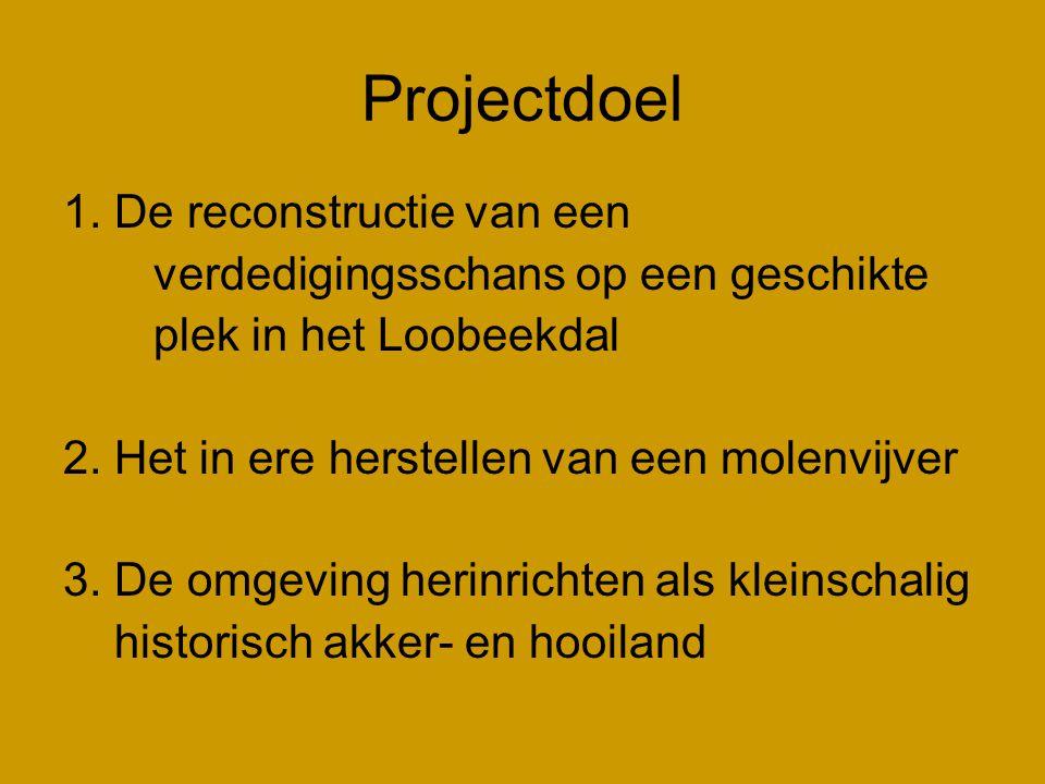 Projectdoel 1. De reconstructie van een