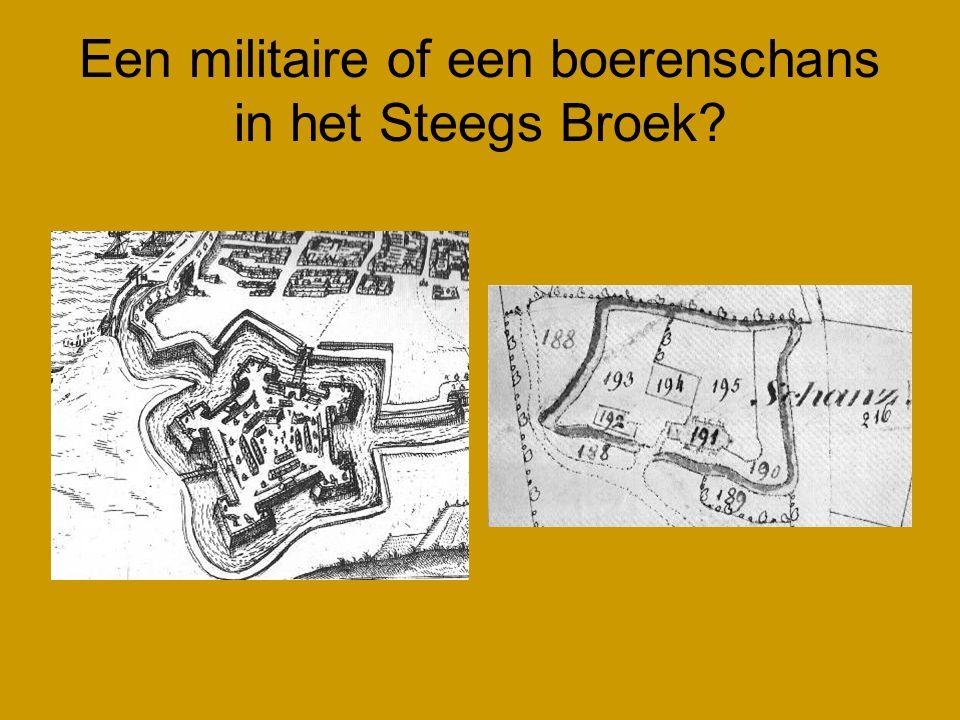 Een militaire of een boerenschans in het Steegs Broek