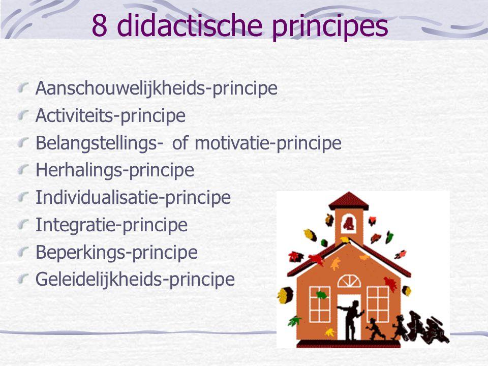 8 didactische principes