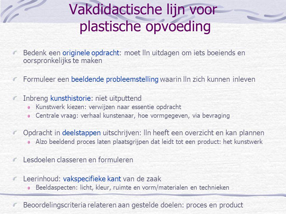 Vakdidactische lijn voor plastische opvoeding