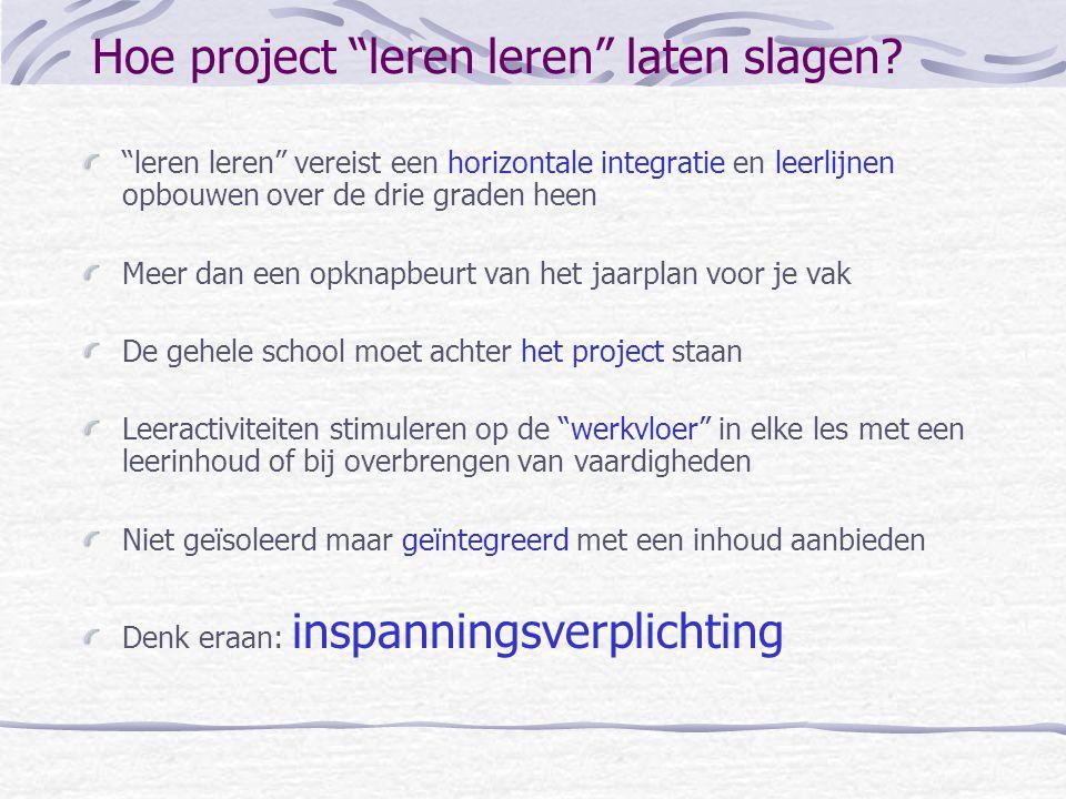 Hoe project leren leren laten slagen