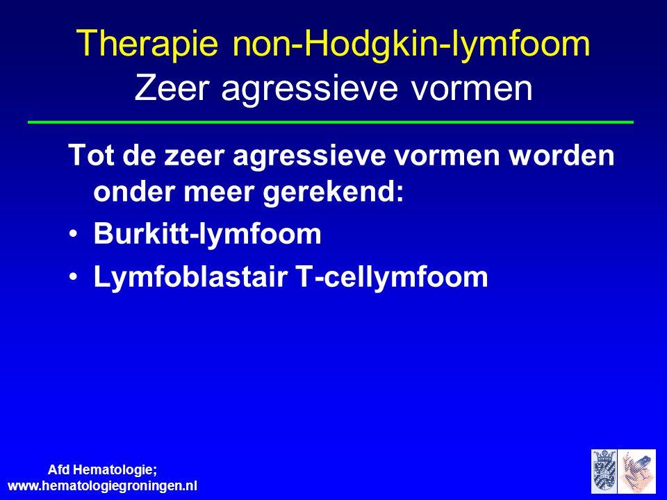 Therapie non-Hodgkin-lymfoom Zeer agressieve vormen