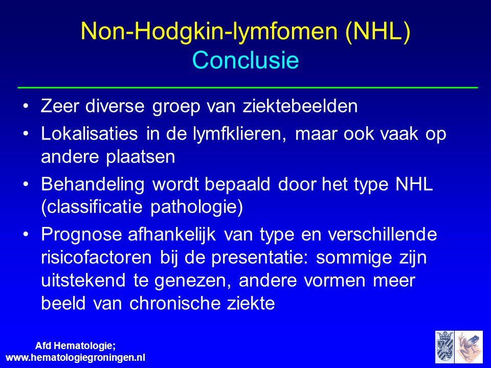 Non-Hodgkin-lymfomen (NHL) Conclusie