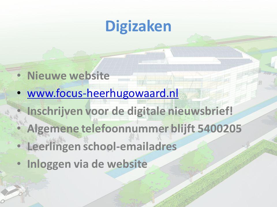 Digizaken Nieuwe website www.focus-heerhugowaard.nl