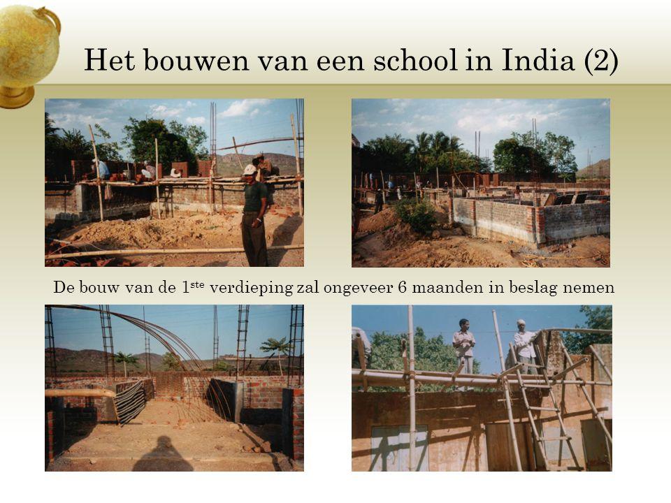 Het bouwen van een school in India (2)