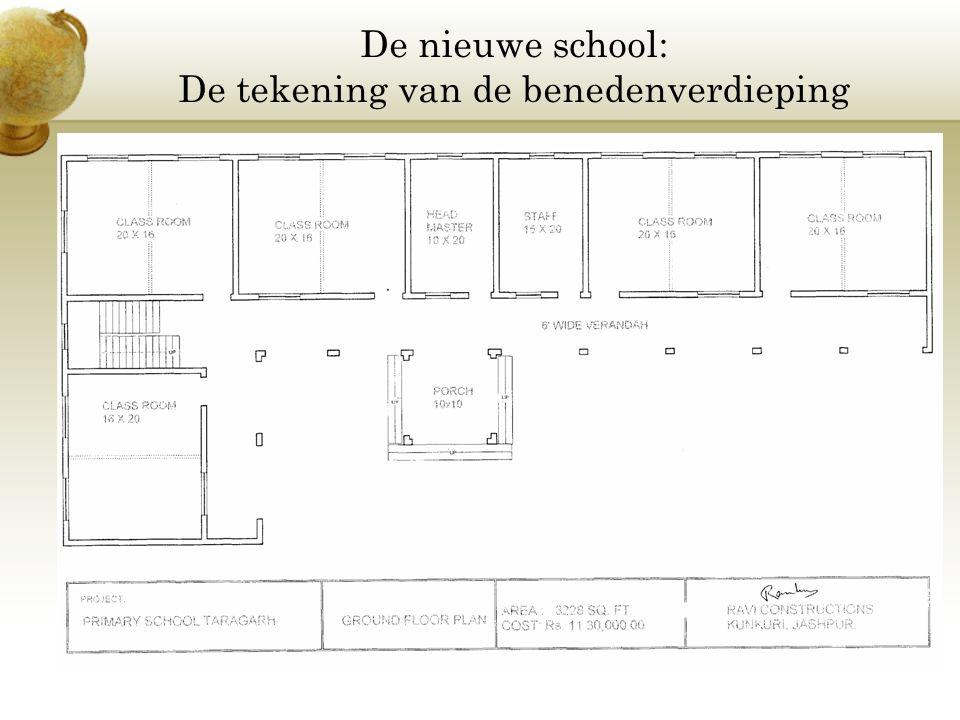De nieuwe school: De tekening van de benedenverdieping