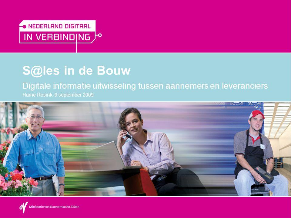 S@les in de Bouw Digitale informatie uitwisseling tussen aannemers en leveranciers.
