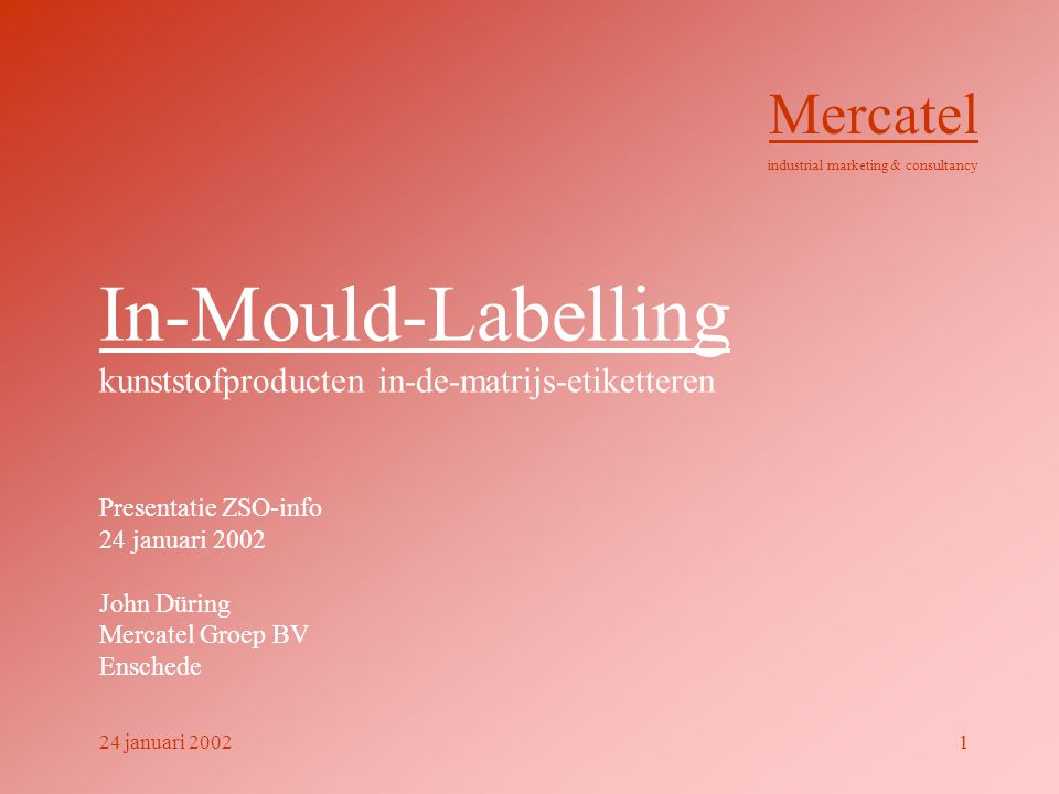 In-Mould-Labelling kunststofproducten in-de-matrijs-etiketteren