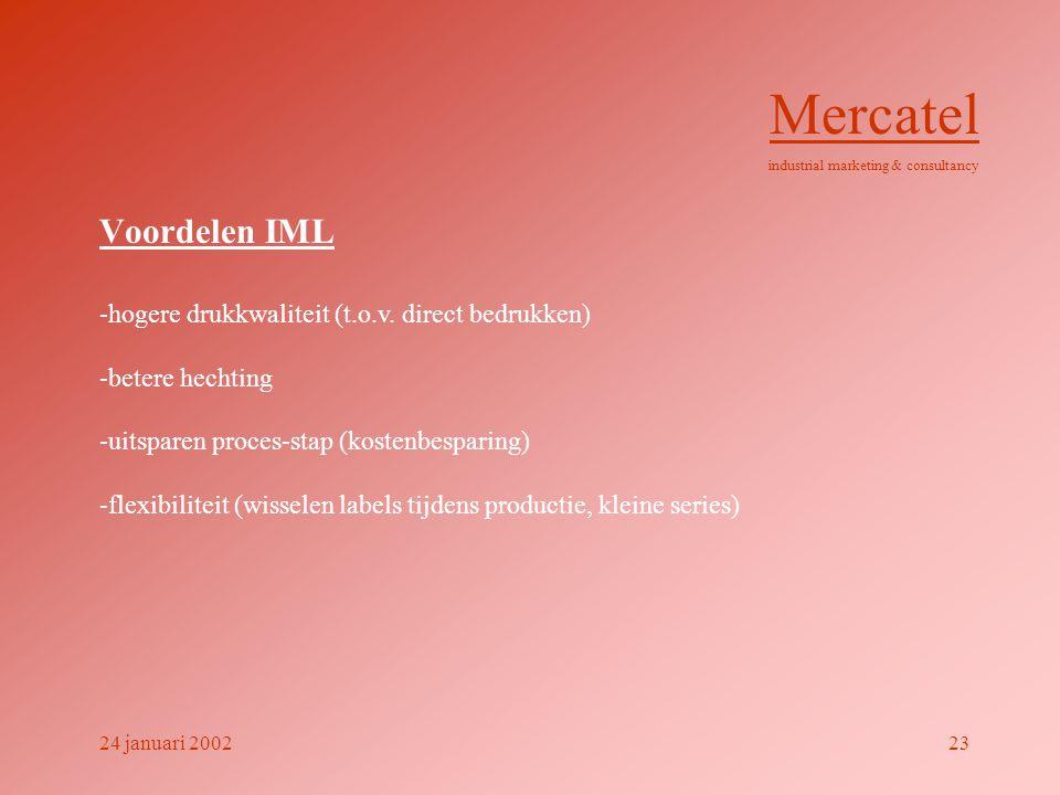 Mercatel Voordelen IML -hogere drukkwaliteit (t.o.v. direct bedrukken)