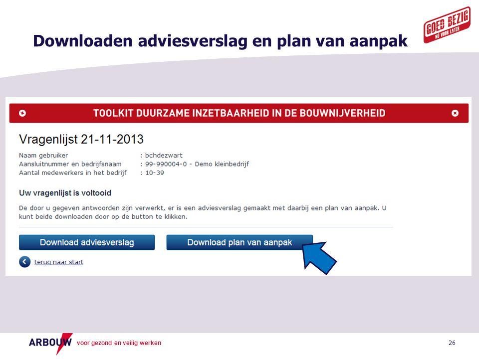 Downloaden adviesverslag en plan van aanpak
