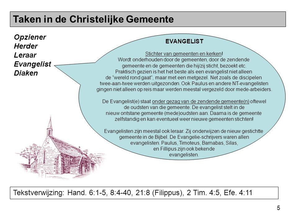 Taken in de Christelijke Gemeente