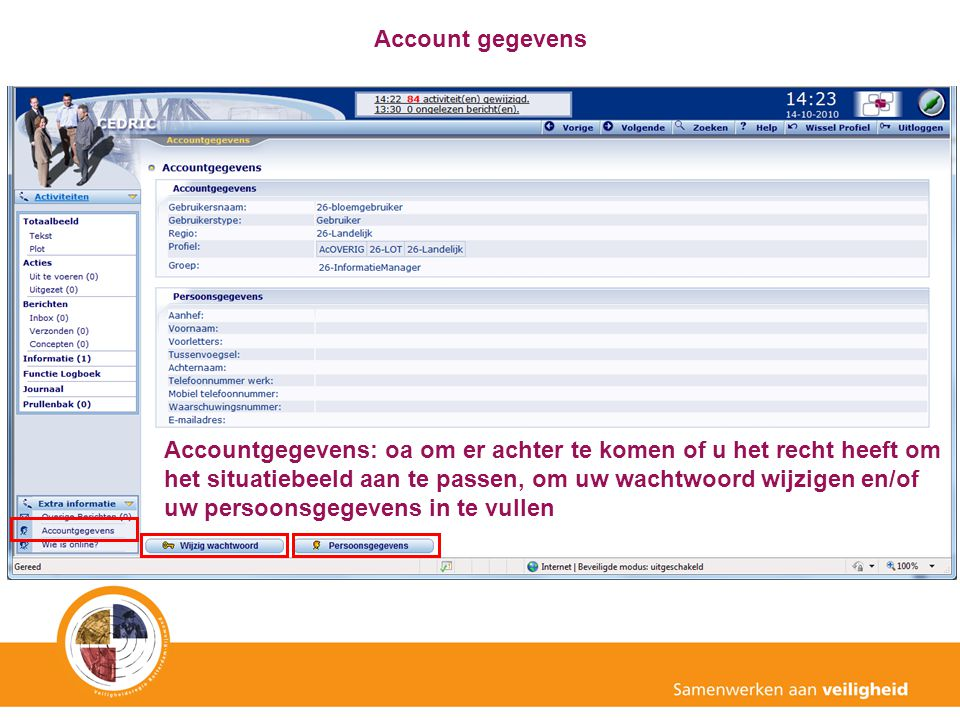 Account gegevens