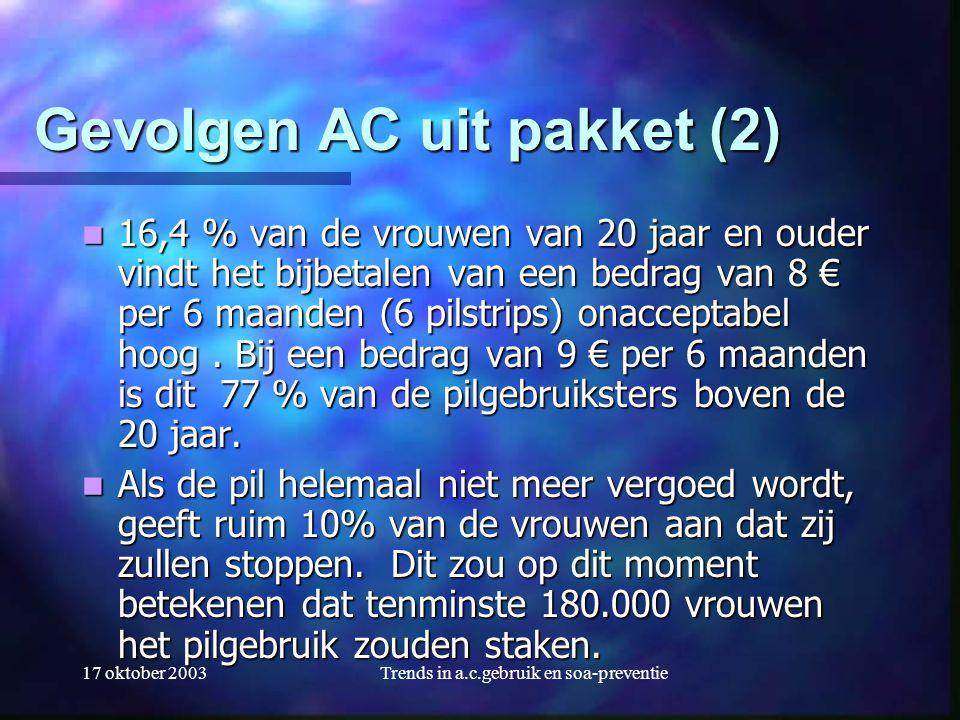 Gevolgen AC uit pakket (2)