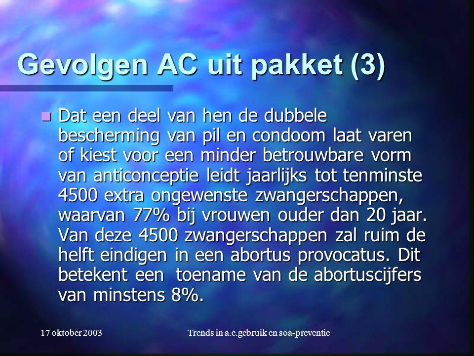 Gevolgen AC uit pakket (3)