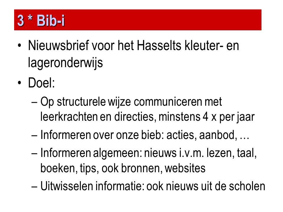 3 * Bib-i Nieuwsbrief voor het Hasselts kleuter- en lageronderwijs