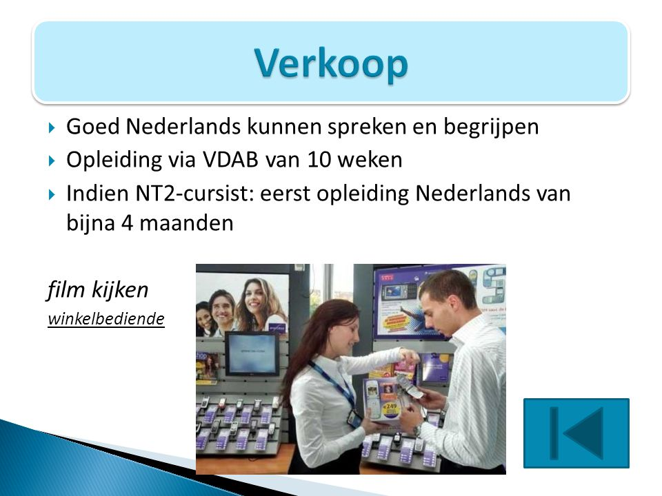 Verkoop Goed Nederlands kunnen spreken en begrijpen