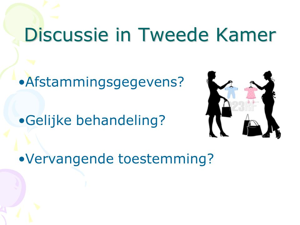 Discussie in Tweede Kamer