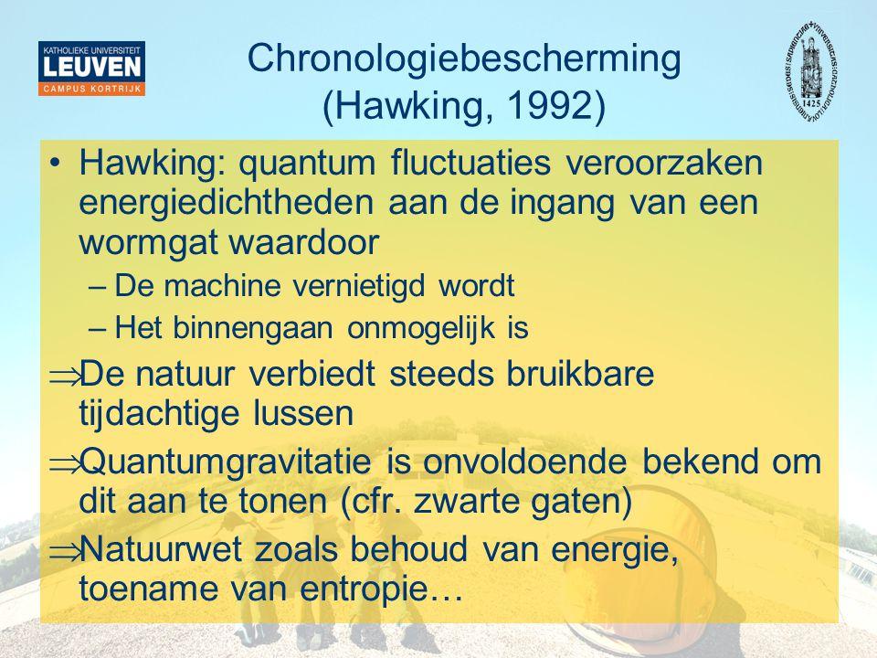 Chronologiebescherming (Hawking, 1992)