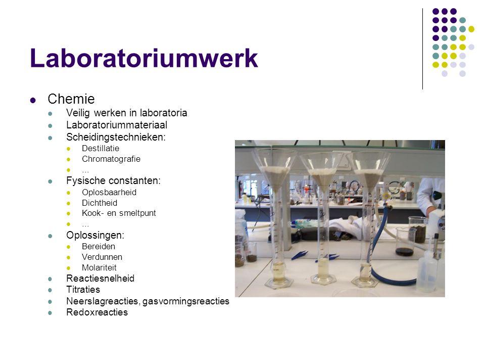 Laboratoriumwerk Chemie Veilig werken in laboratoria
