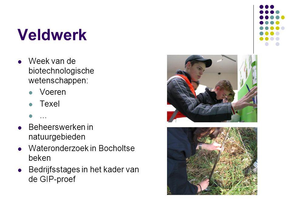 Veldwerk Week van de biotechnologische wetenschappen: Voeren Texel ...