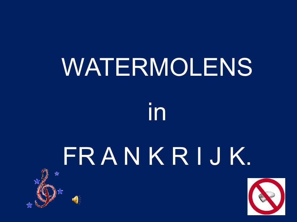 WATERMOLENS in FR A N K R I J K.