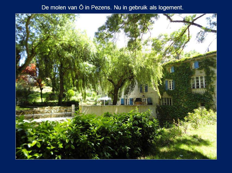 De molen van Ô in Pezens. Nu in gebruik als logement.