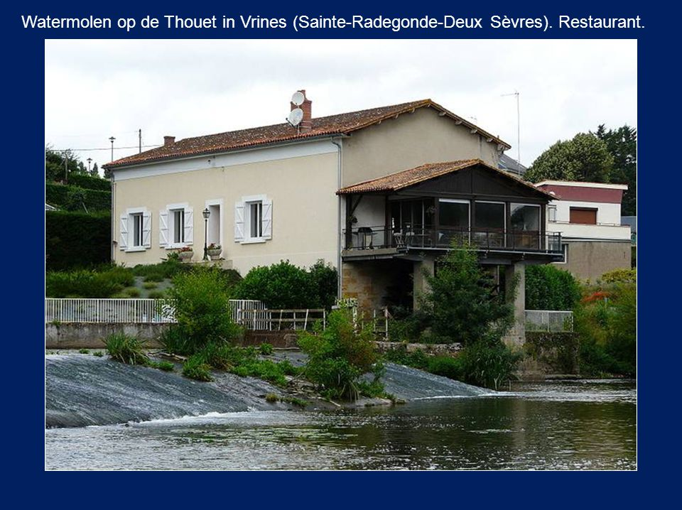 Watermolen op de Thouet in Vrines (Sainte-Radegonde-Deux Sèvres)