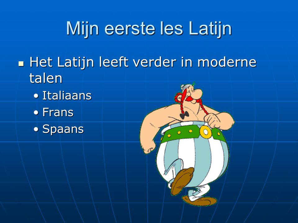 Mijn eerste les Latijn Het Latijn leeft verder in moderne talen