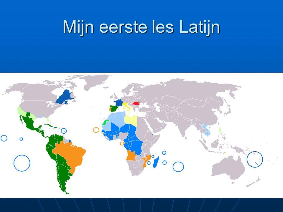 Mijn eerste les Latijn