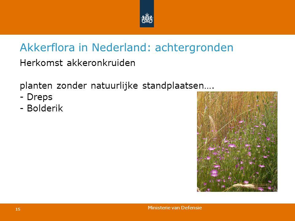 Akkerflora in Nederland: achtergronden