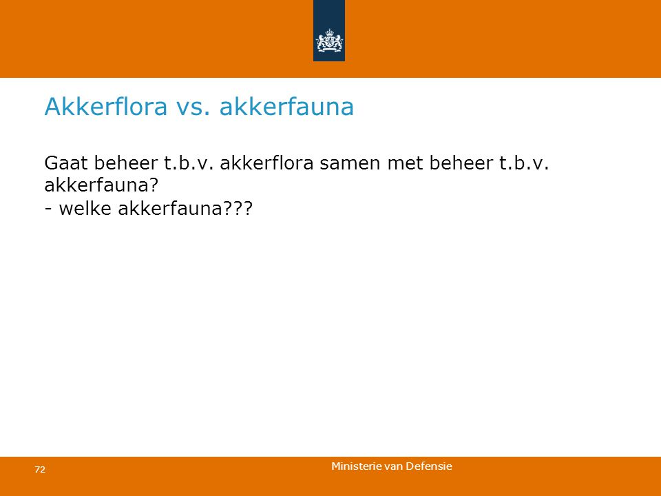 Akkerflora vs. akkerfauna