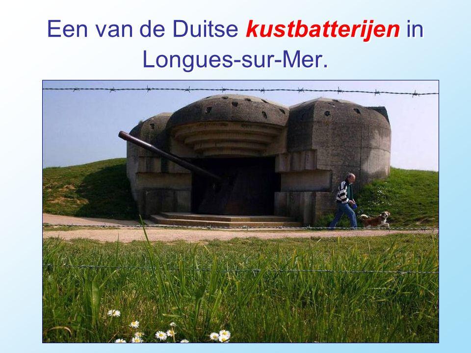 Een van de Duitse kustbatterijen in Longues-sur-Mer.