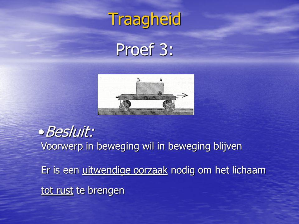 Traagheid Proef 3: