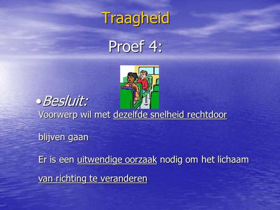 Traagheid Proef 4: