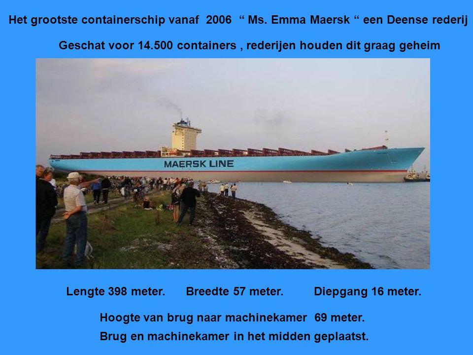 Het grootste containerschip vanaf 2006 Ms